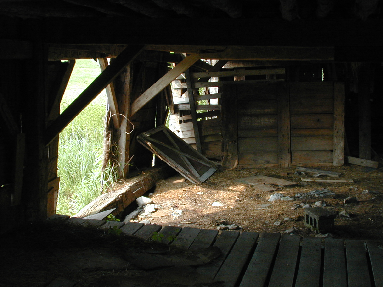 Third unknown house, barn interior