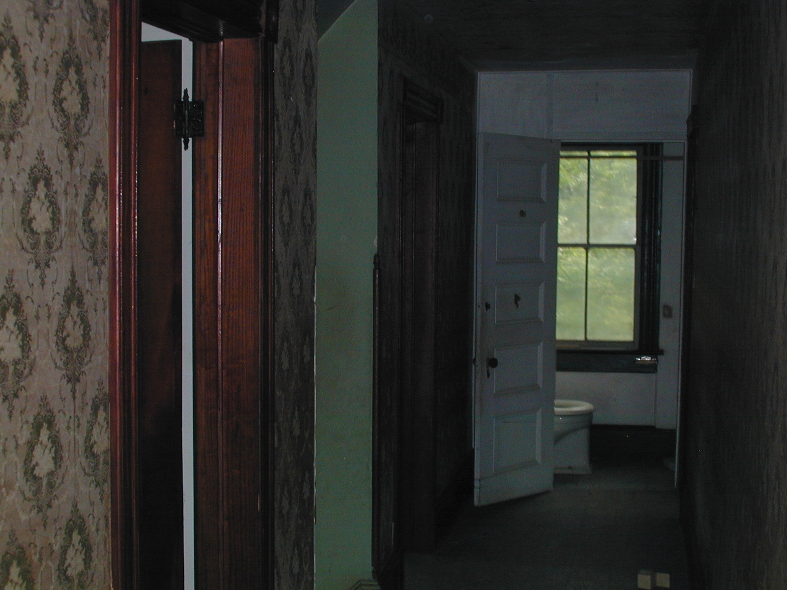 Third unknown house, upstairs hall