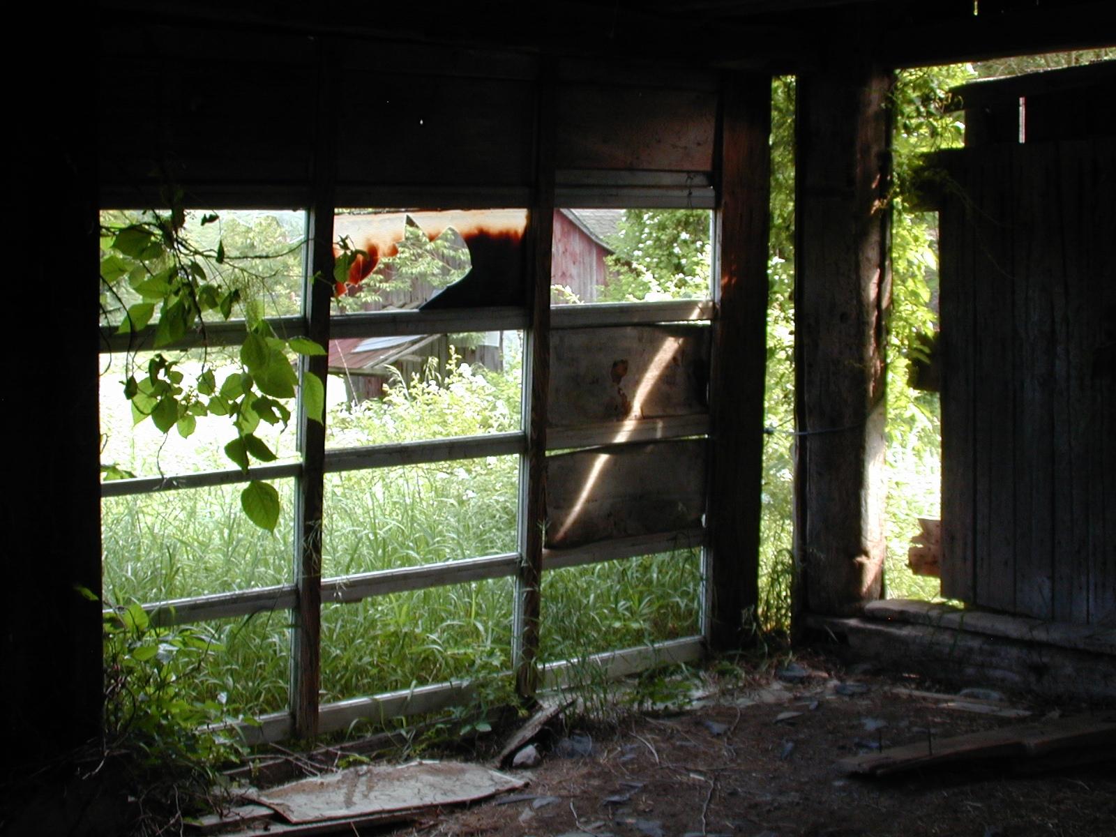 Third unknown house, barn interior