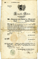 Document #9 - Swiss marriage license, 1851