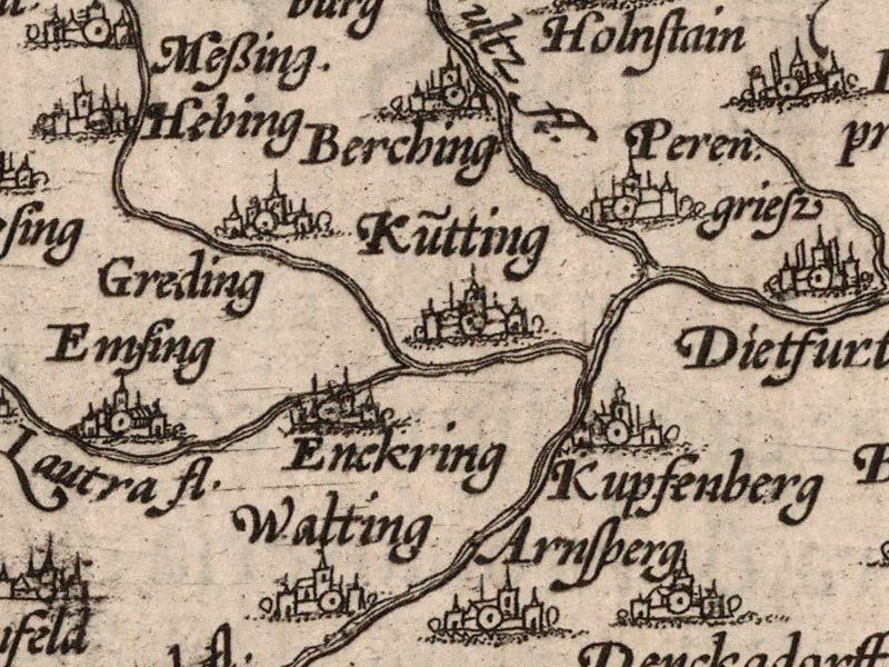 1570 Ortellius map detail