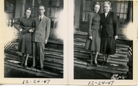 Betty Betz with Anna Marie and Francis Gerard, ca. December 1947