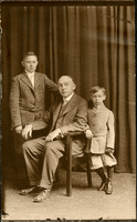 Edward R. Betz with Edward M. and Francis Gerard, date unknown