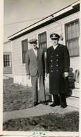 Edward R. Betz and son Edward M., ca. February 1946