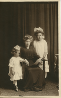 Lena Betz with Anna Marie and Betty, date unknown