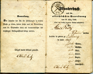 Document #1 - Alois Betz's Wanderbuch, 1846