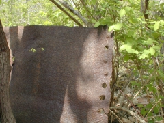 Rivetted Iron Plate Near Chester Furnace