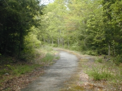 Partially paved portion of Ridge Road