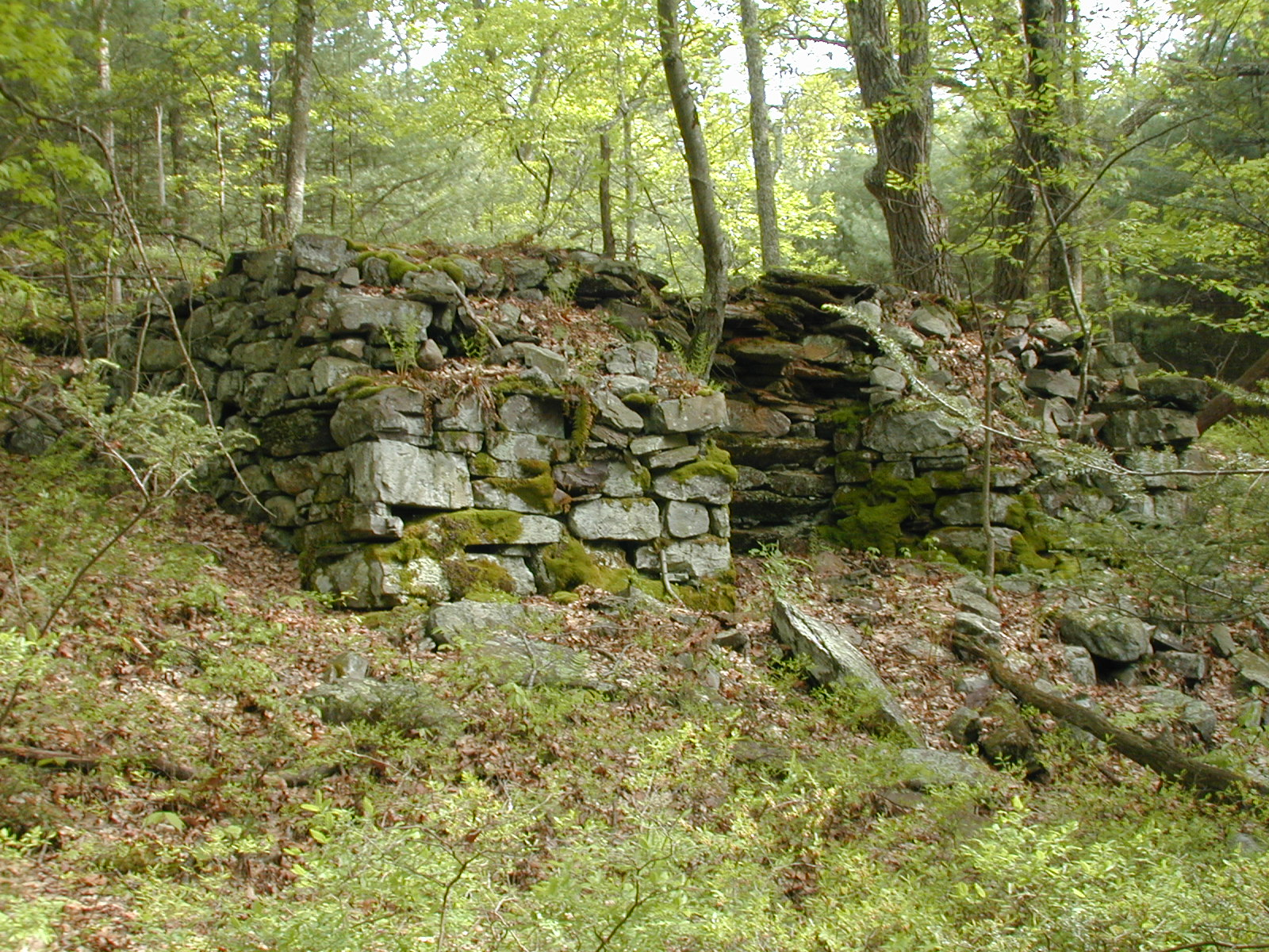 Left-front view of the lime kiln