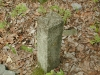 Boundary marker off of Ridge Road