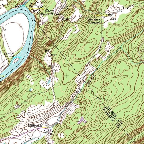 Millbrook area topo