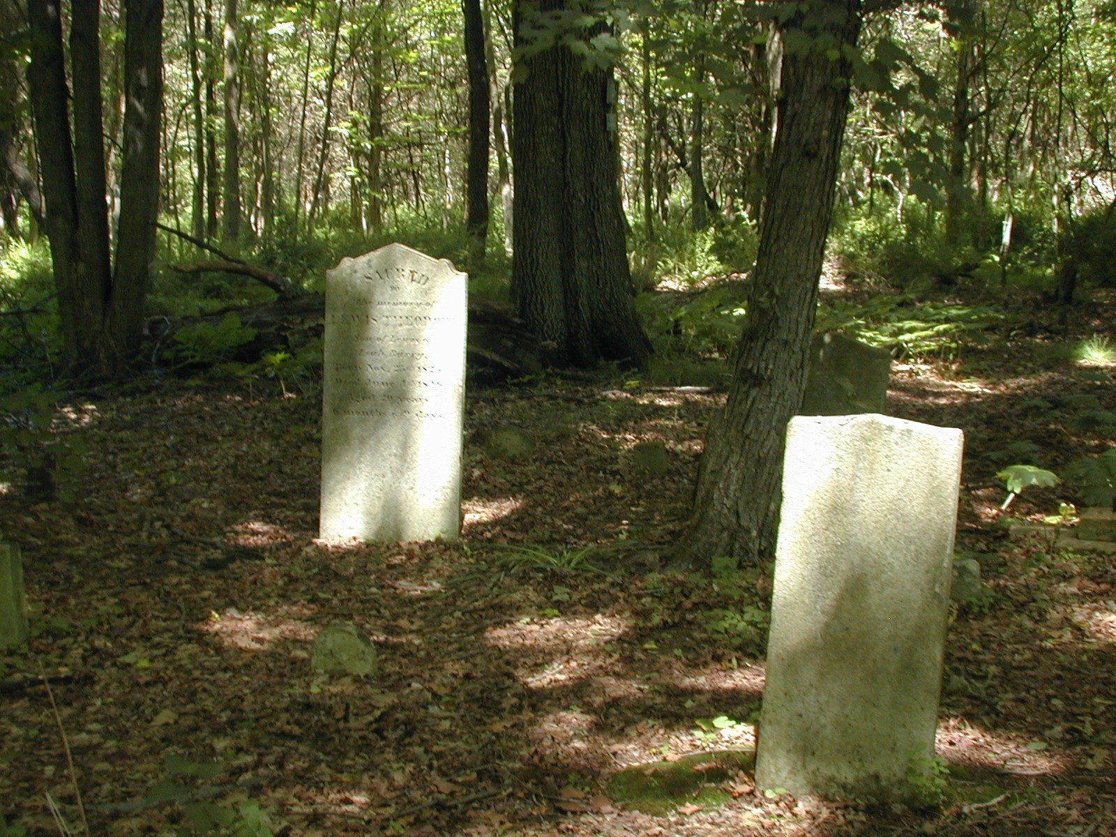The stones of John Depue and Louis Barry