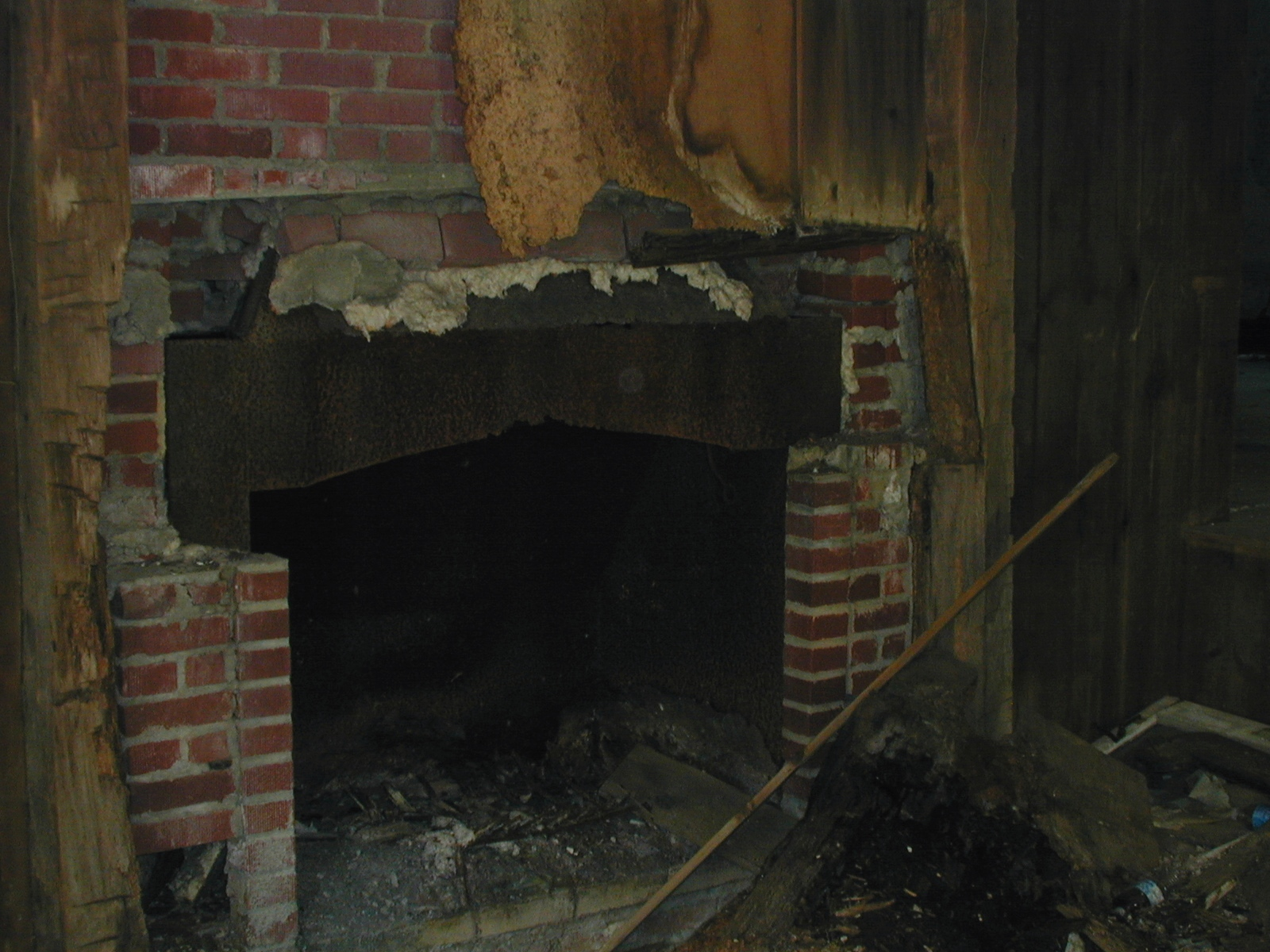 Fireplace in the Depue farmhouse