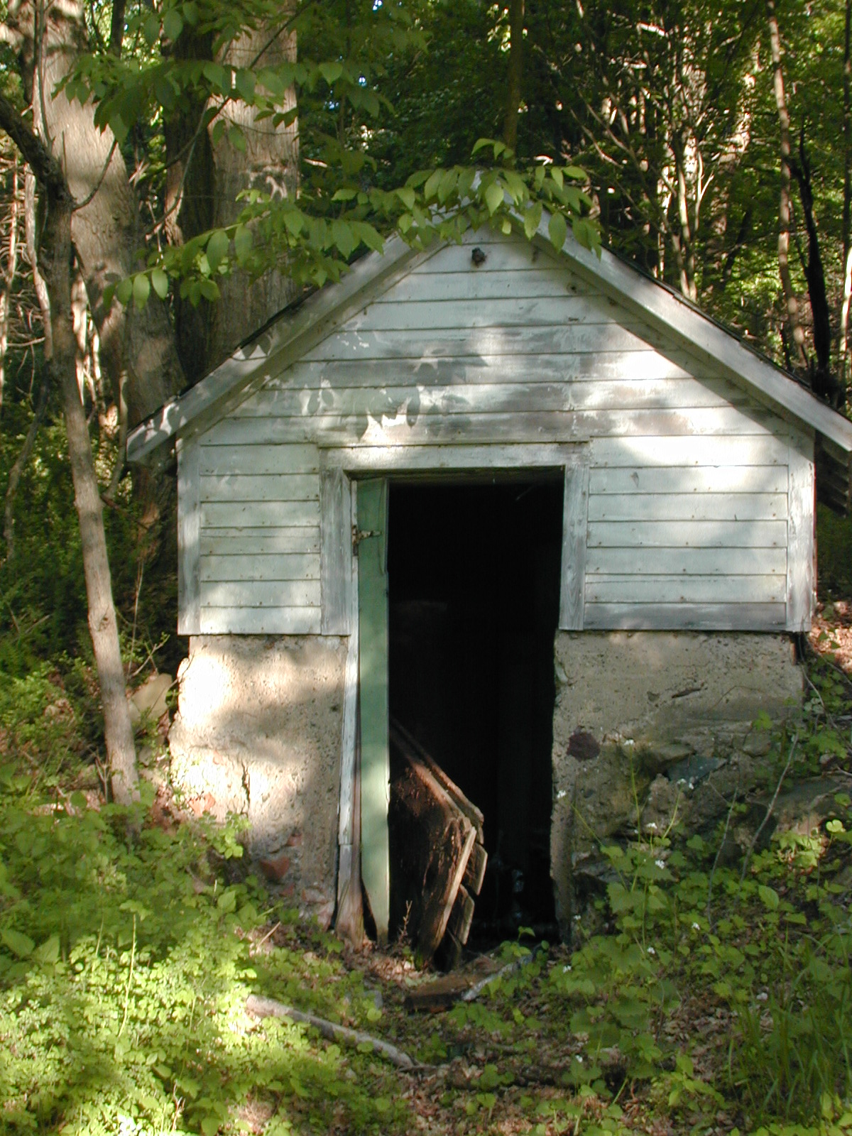Pumphouse behind the second house