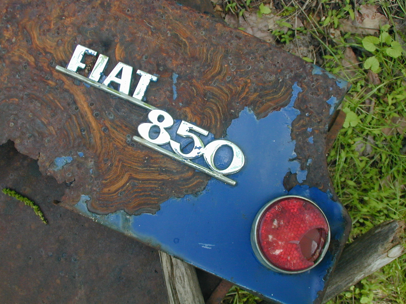 One of the few pieces of a Fiat 850 to retain any color